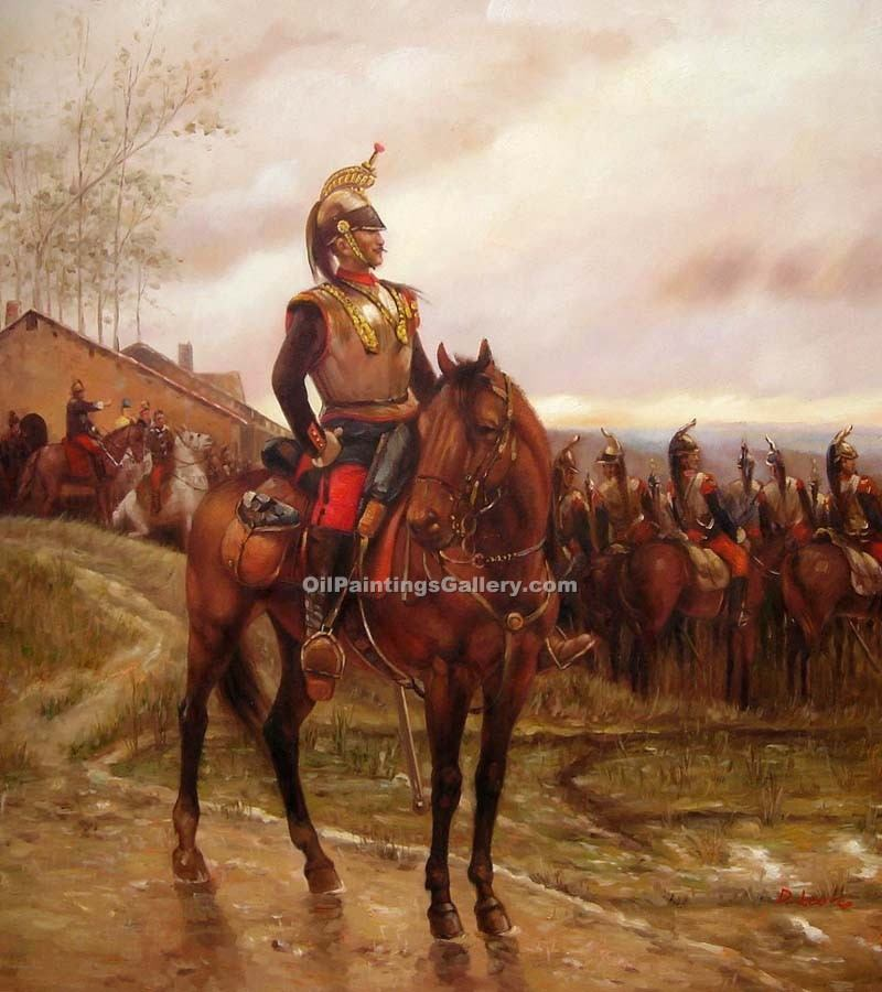 """The Hussars"" by  Alphonse de Neuville"