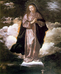 The Immaculate Conception by  Diego Rodriguez de Silva Velazquez (Painting ID: DA-0200-KA)