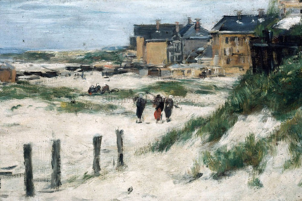"""The Inlet at Berck"" by  Eugene Louis Boudin"