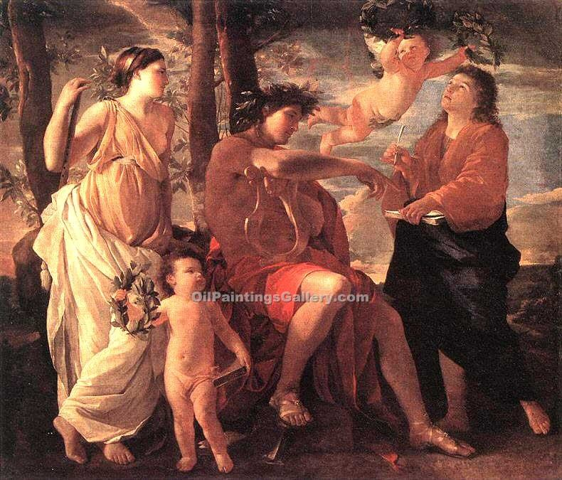 """The Inspiration of the Poet 47"" by  Nicolas Poussin"