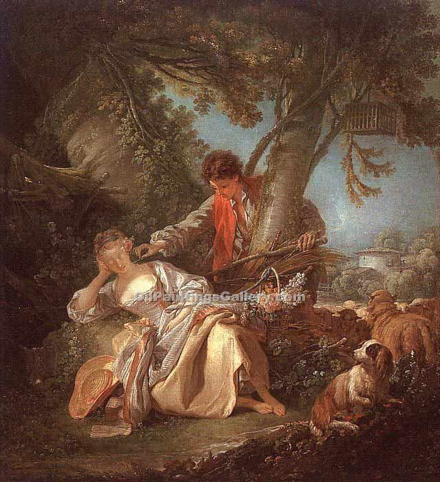 """The Interrupted Sleep"" by  Francois Boucher"