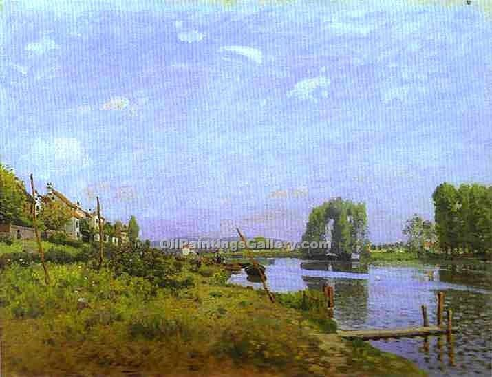 """The Island of Saint-Denis"" by  Alfred Sisley"