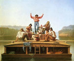 The Jolly Flatboatmen by  George Caleb Bingham (Painting ID: ED-0573-KA)