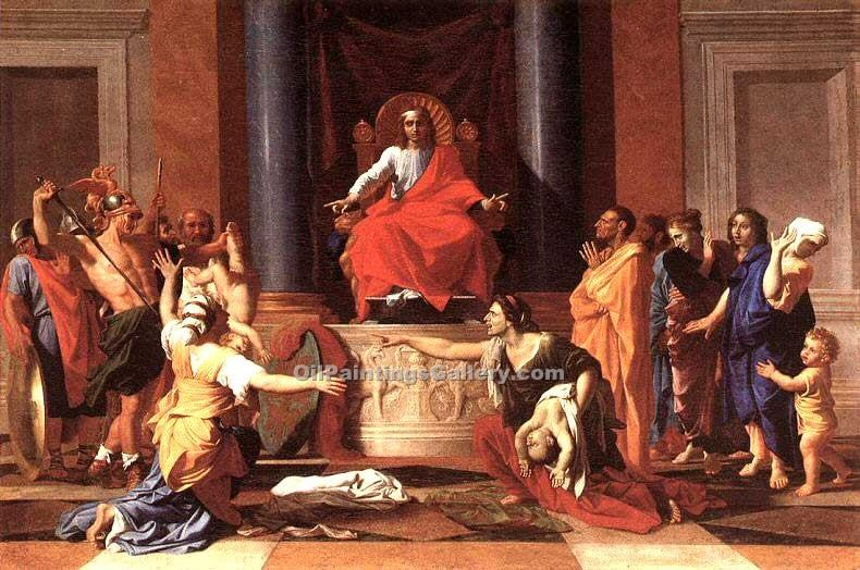 """The Judgment of Solomon"" by  Nicolas Poussin"