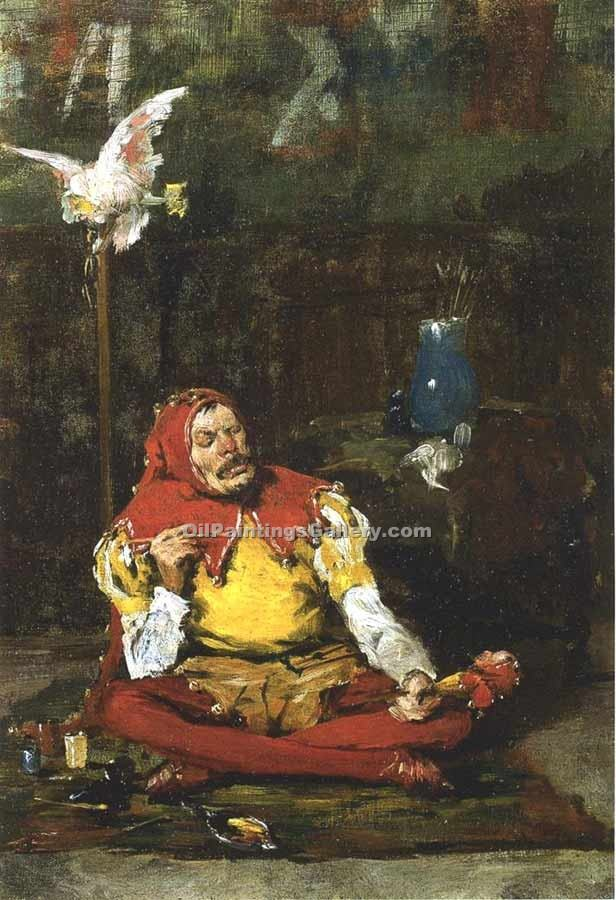 The King s Jester by William Merritt Chase | Paintings Of Famous Artists - Oil Paintings Gallery