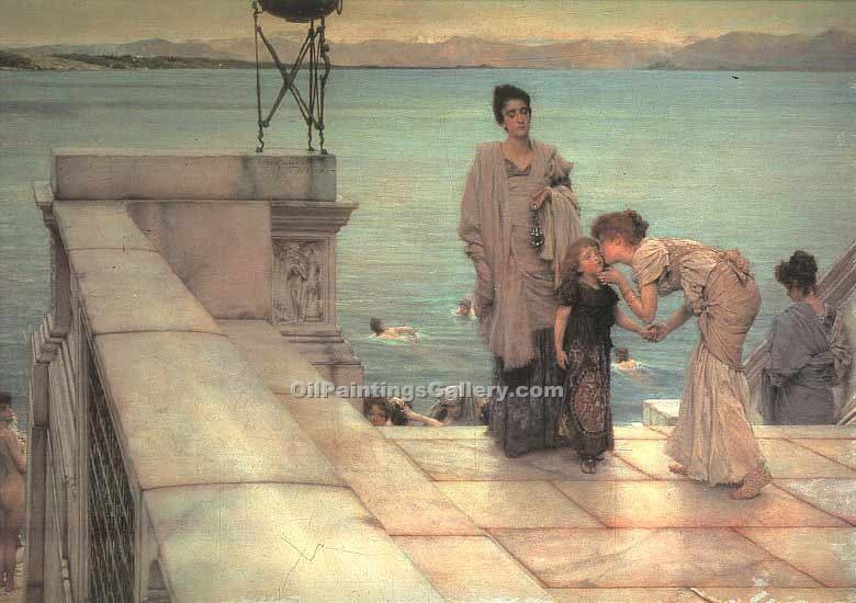 """The Kiss 25"" by  Sir Lawrence Alma Tadema"