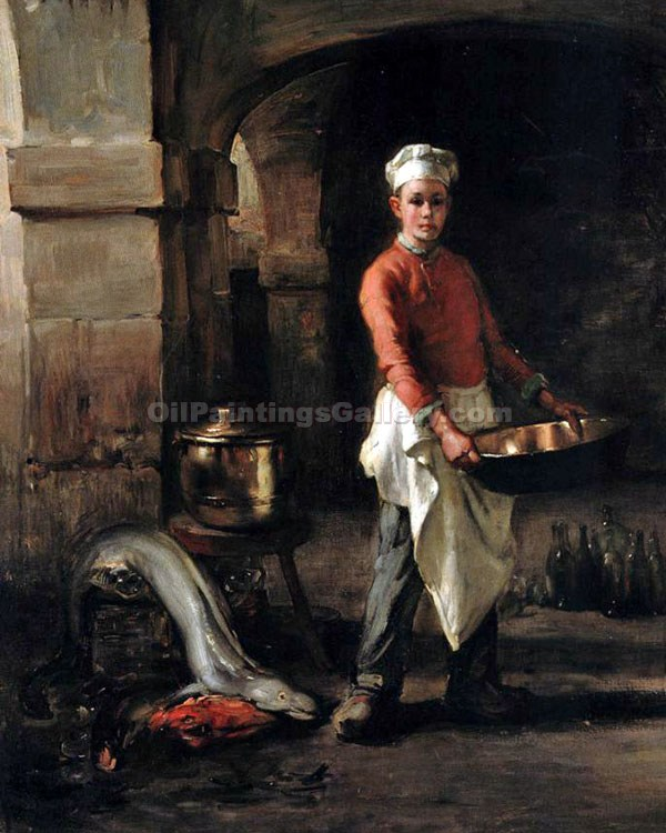 The Kitchen Boy by Claude JosephBail | Abstract Acrylic Paintings - Oil Paintings Gallery