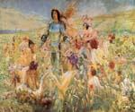 The Knight of the Flowers by  Georges Antoine Rochegrosse (Painting ID: CL-3170-KA)