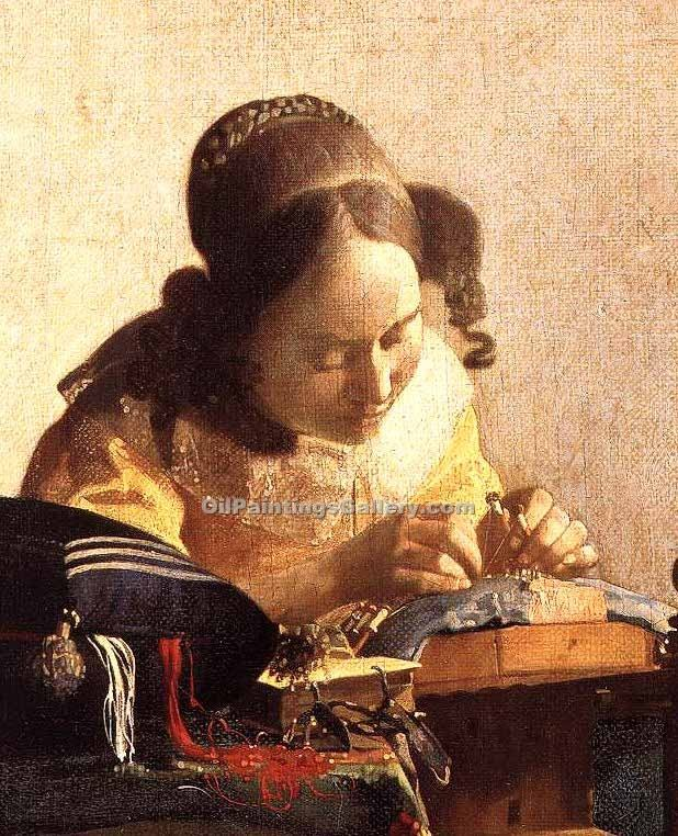 """The Lacemaker 53"" by  Jan Vermeer"