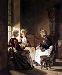 The Lacemakers by  Claude Joseph Bail (Painting ID: CO-0055-KA)