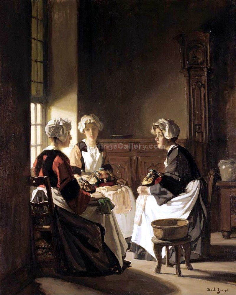 """The Lacemakers"" by  Claude Joseph Bail"