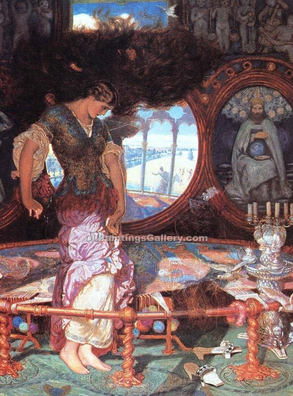 """The Lady of Shalott 23"" by  William Holman Hunt"