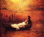 The Lady of Shalott 47 by  John Atkinson Grimshaw (Painting ID: CL-0947-KA)