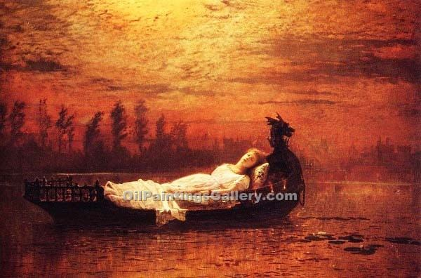 """The Lady of Shalott 47"" by  John Atkinson Grimshaw"