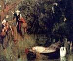 The Lady of Shalott 64 by  Arthur Hughes (Painting ID: CL-2064-KA)