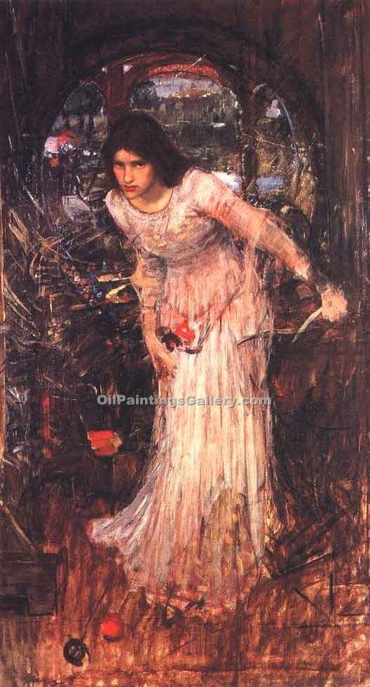 The Lady of Shalott Study by Waterhouse John William | Best Online Art Gallery - Oil Paintings Gallery