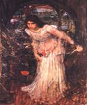 The Lady of Shalott Study by  John William Waterhouse (Painting ID: CL-4217-KA)