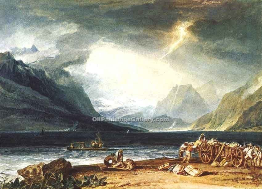 """The Lake of Thun Switzerland"" by  William Turner"