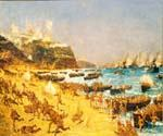 The Landing at Anzac by  Charles Edward Dixon (Painting ID: CI-3126-KA)