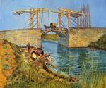 The Langlois Bridge at Arles with Women Washing 15 Oil Painting (ID: VG-0315-A)