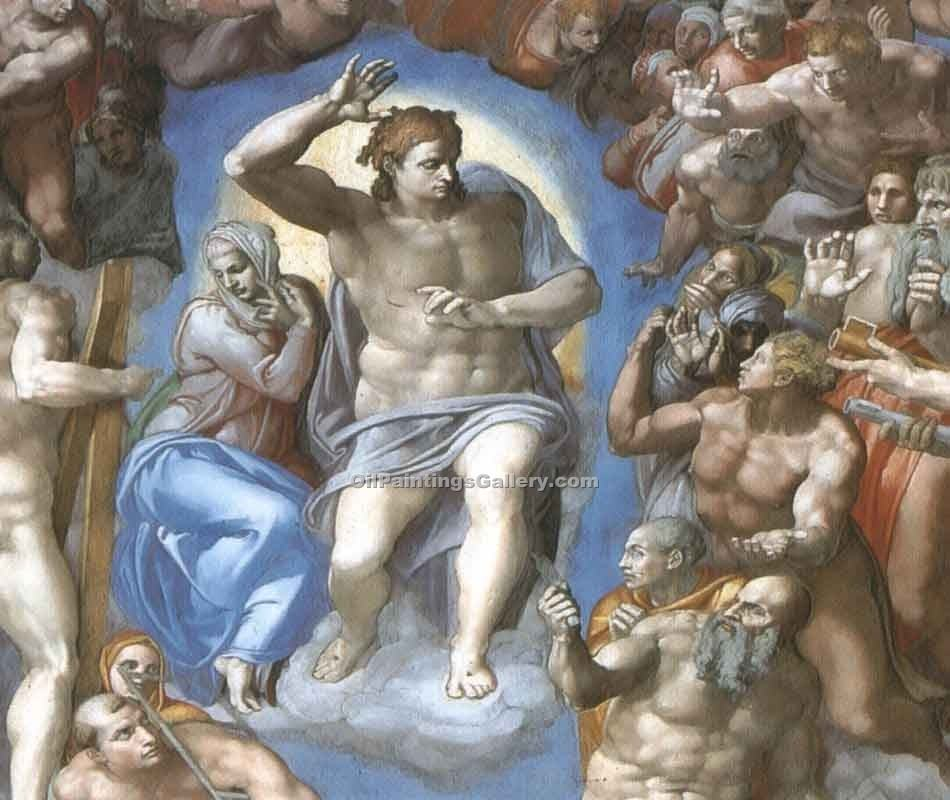 """The Last Judgment 30"" by  Buonarroti Michelangelo"