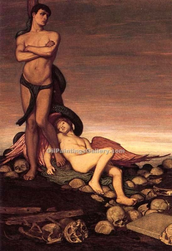 """The Last Man"" by  Elihu Vedder"