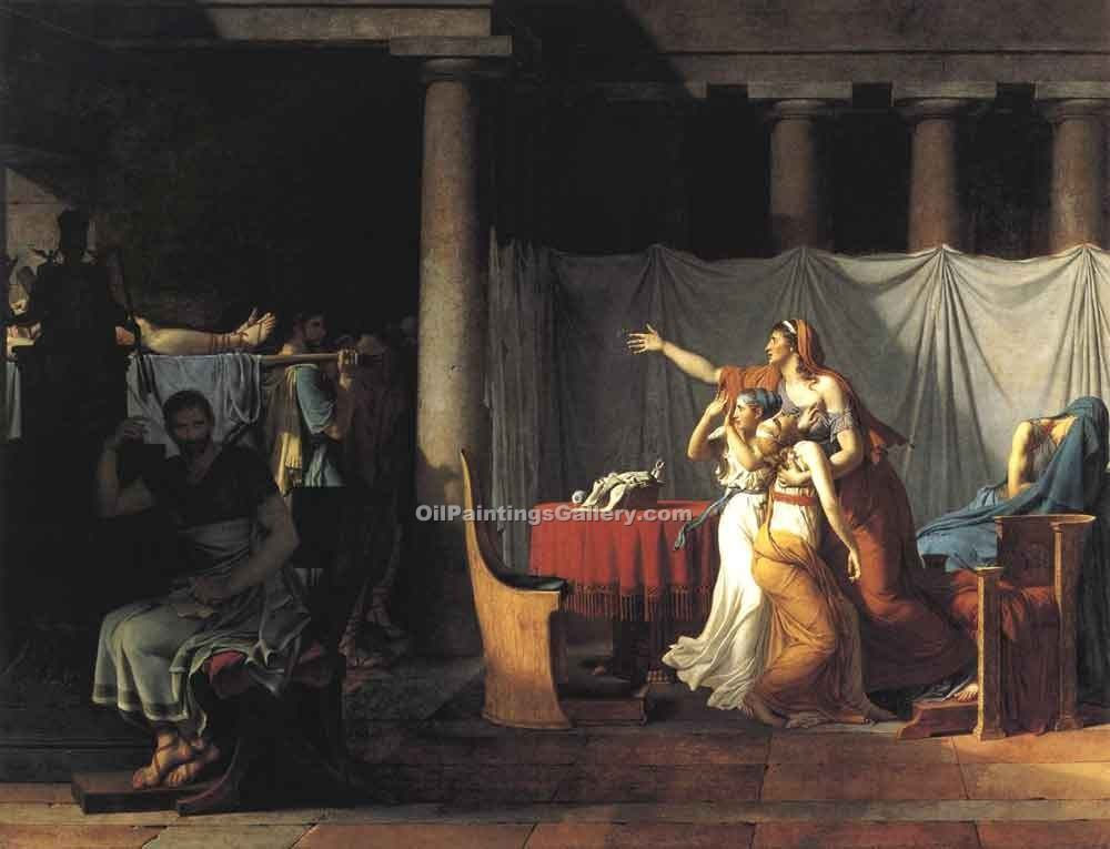 """The Lictors Returning to Brutus the Bodies of his Sons"" by  Jacques Louis David"