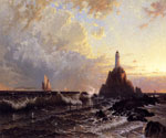 The Lighthouse by  Alfred Thompson Bricher (Painting ID: LA-0807-KA)