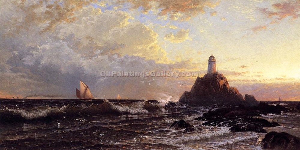 """The Lighthouse"" by  Alfred Thompson Bricher"