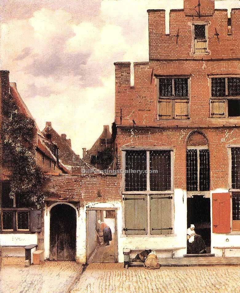 The Little Street by Vermeer Jan | Impressionism Paintings - Oil Paintings Gallery