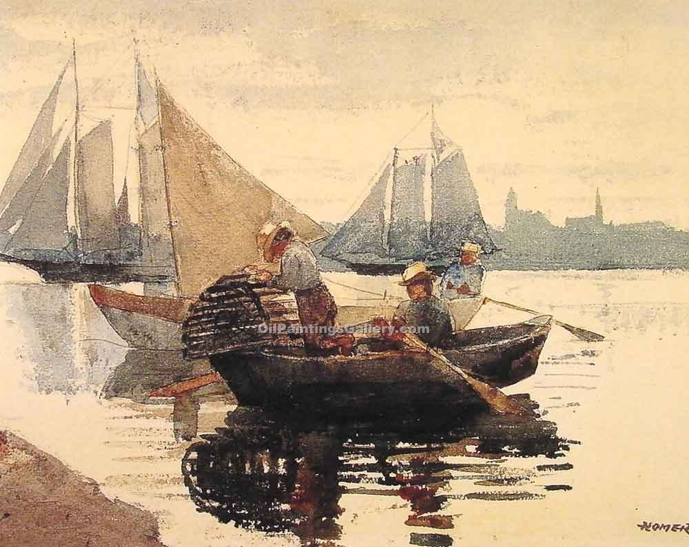 """The Lobster Pot"" by  Winslow Homer"