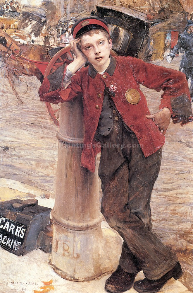 """The London Bootblack"" by  Jules Bastien Lepage"
