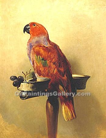 """The Lory"" by  Sir Edwin Henry Landseer"