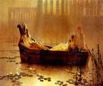 The Lotus Gatherers by  John Atkinson Grimshaw (Painting ID: CL-0949-KA)
