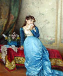 The Love Letter 25 by  Auguste Toulmouche (Painting ID: ED-0825-KA)