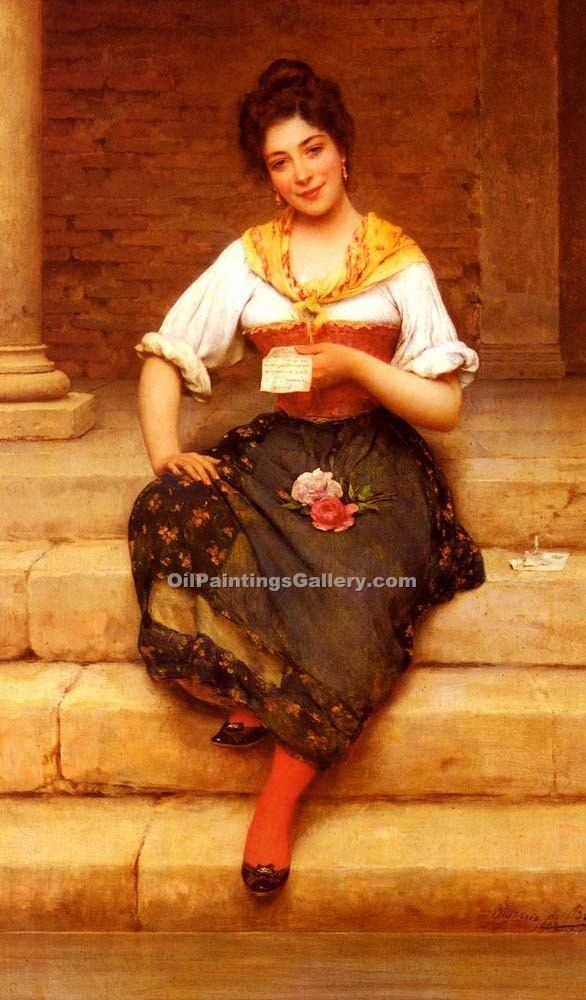"""The Love Letter 62"" by  Eugene de Blaas"
