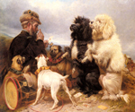 The Lucky Dogs by  Richard Ansdell (Painting ID: AN-0329-KA)