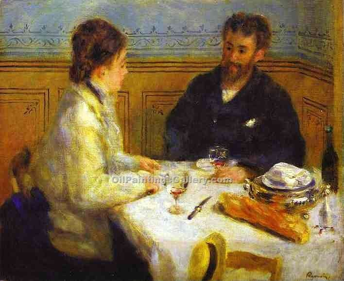 """The Lunch"" by  Pierre Auguste Renoir"