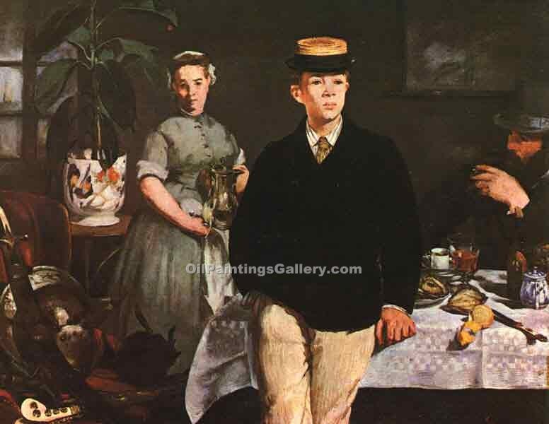 """The Luncheon in the Studio"" by  Edouard Manet"