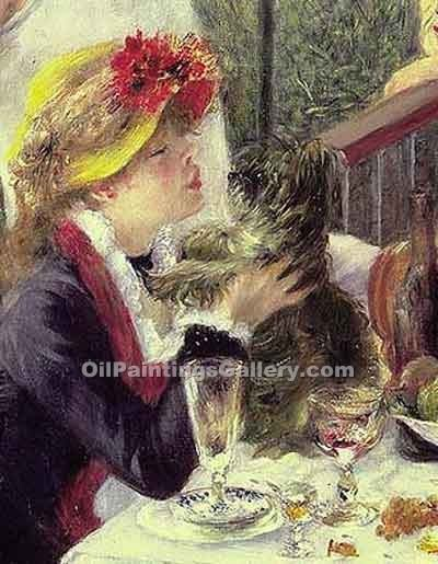 """The Luncheon of the Boating Party (detail) 49"" by  Pierre Auguste Renoir"