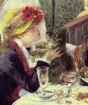 The Luncheon of the Boating Party (detail) 49 by  Pierre Auguste Renoir (Painting ID: CL-4549-KA)