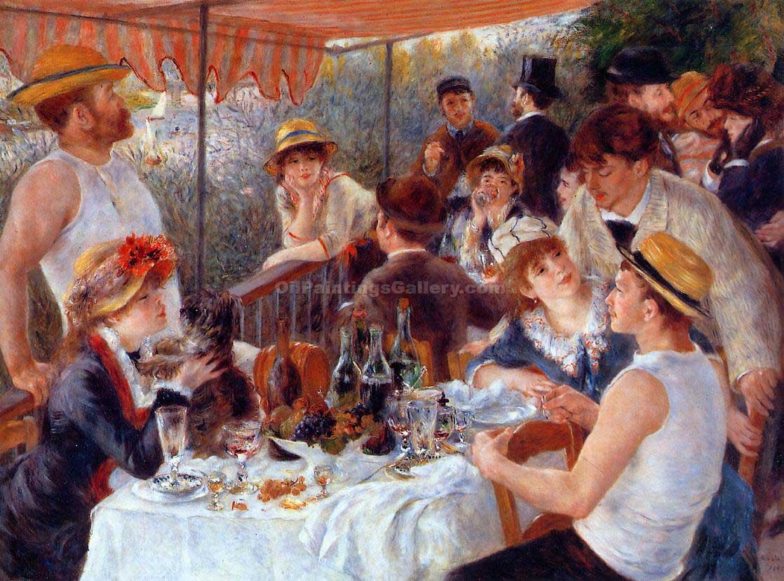 The Luncheon of the Boating Party 48 by Pierre Auguste Renoir | Oil Paintings Website - Oil Paintings Gallery