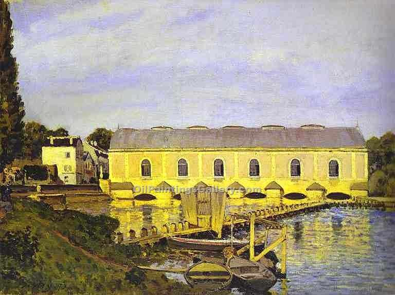 """The Machine at Marly"" by  Alfred Sisley"