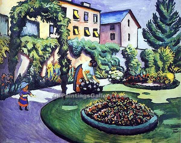 """The Macke Garden at Bonn"" by  August Macke"