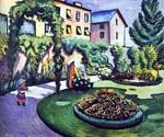 The Macke Garden at Bonn by  August Macke (Painting ID: AL-0310-KA)
