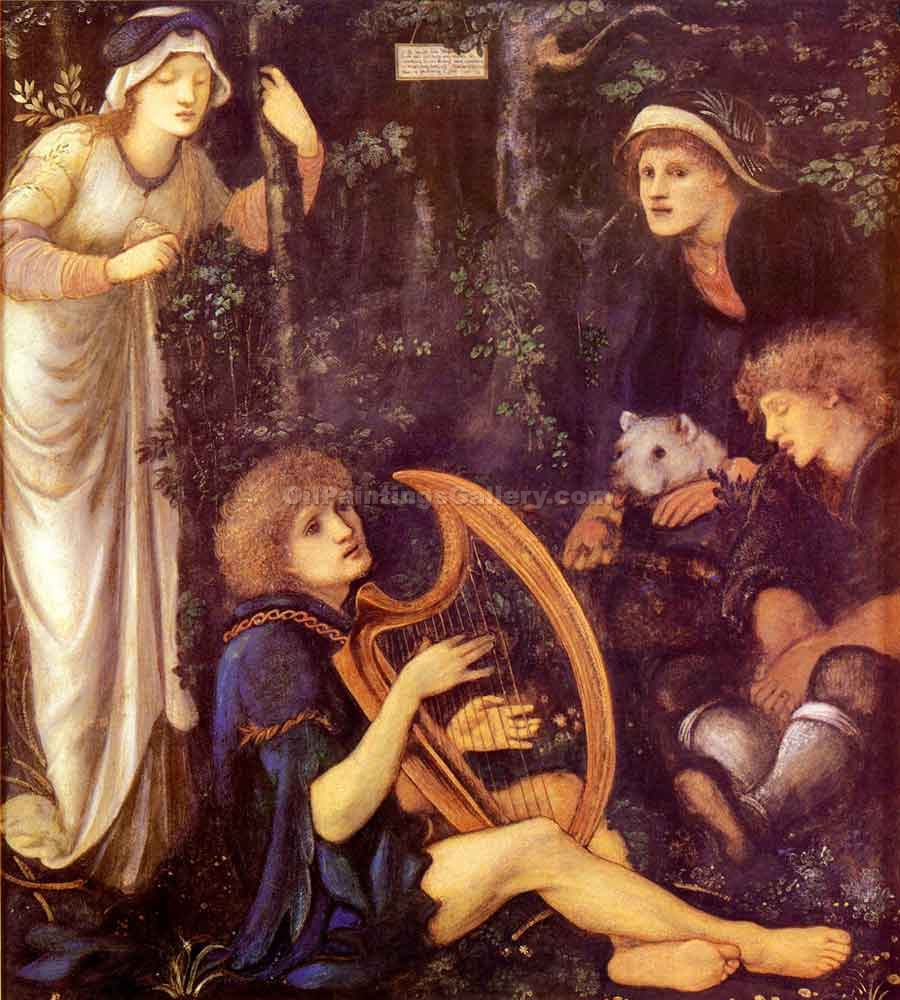"""The Madness of Sir Tristram"" by  Edward Burne Jones"