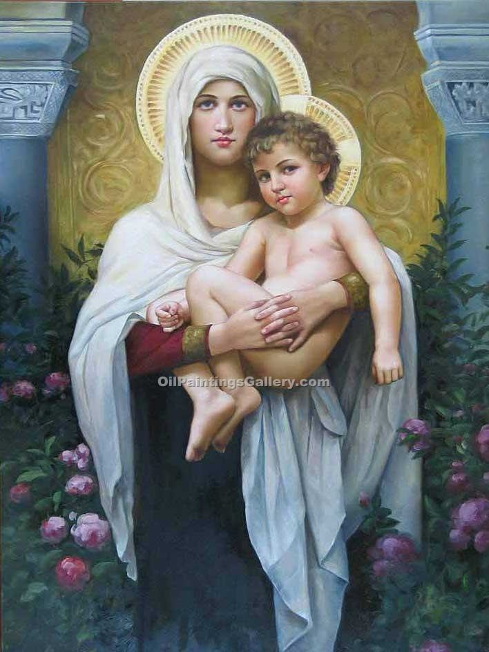 """The Madonna of the Roses"" by  Adolphe Bouguereau"