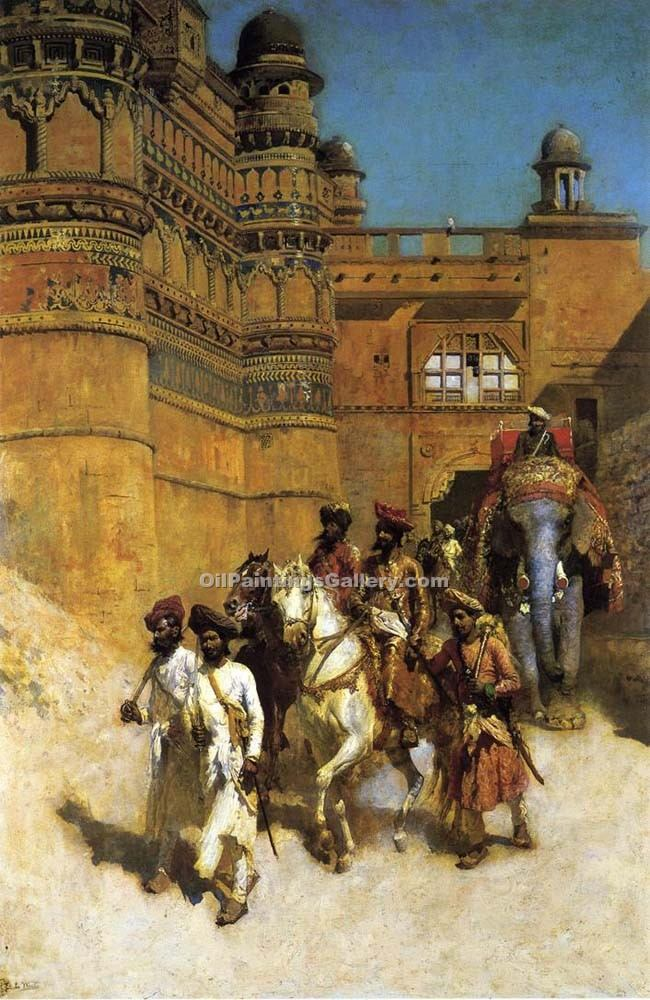 """The Maharahaj of Gwalior Before His Palace "" by  Edwin Lord Weeks"