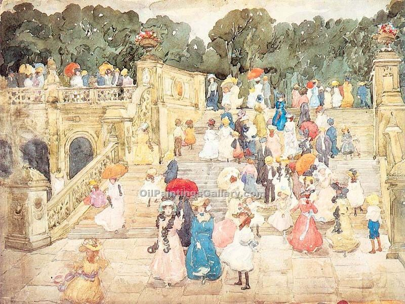 """The Mall Central Park"" by  Maurice Brazil Prendergast"