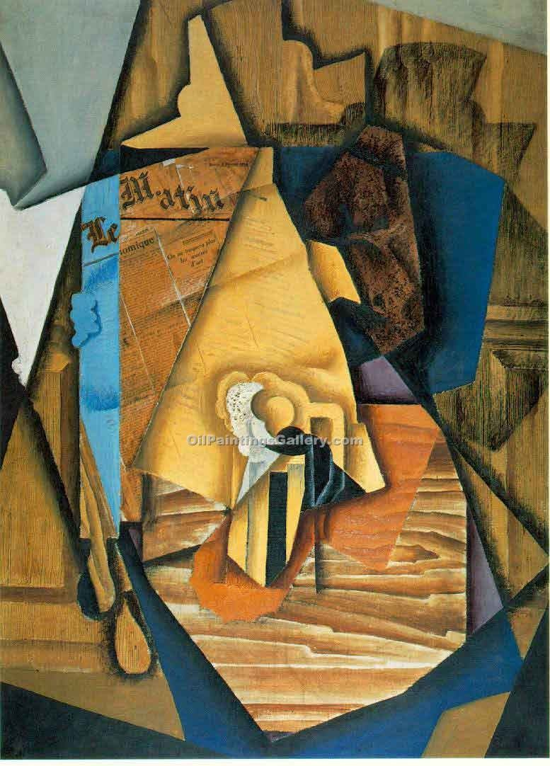 """The Man at the Cafe"" by  Juan Gris"